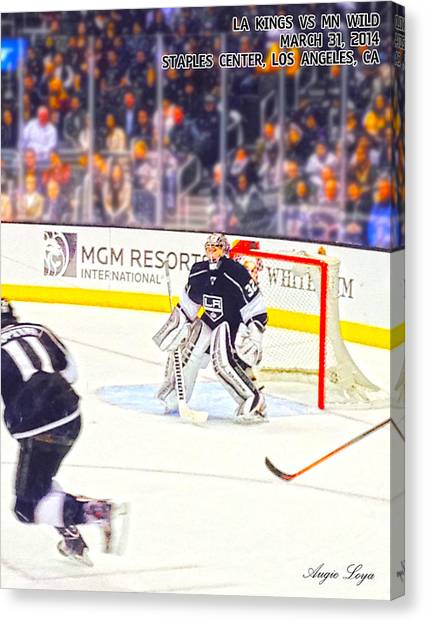 Los Angeles Kings Canvas Print - Quick 32 by Agustin Loya