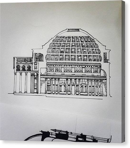 Roman Art Canvas Print - Quick Sketch,  Pantheon -section by Nishant Vaidya