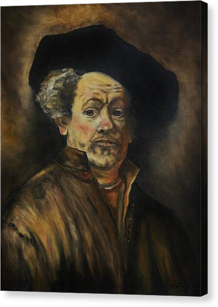 Quick Study Of Rembrandt Canvas Print by Stefon Marc Brown