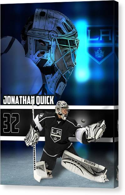 Los Angeles Kings Canvas Print - Quick by Yf Jarosova