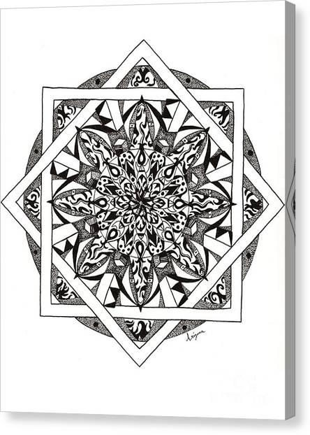 Quiddity Mandala Canvas Print