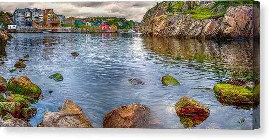 Newfoundland And Labrador Canvas Print - Quidi Vidi Panorama by Shawn Hudson
