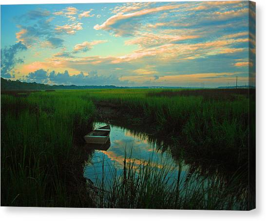 Quiet Gateway Canvas Print by Tony DelSignore