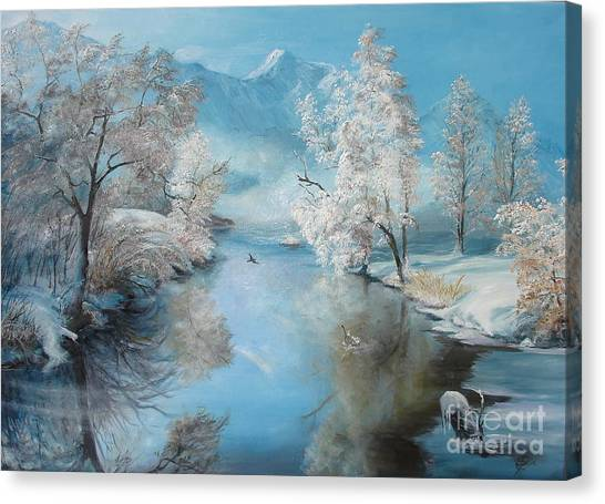 Quiet Ice  Canvas Print