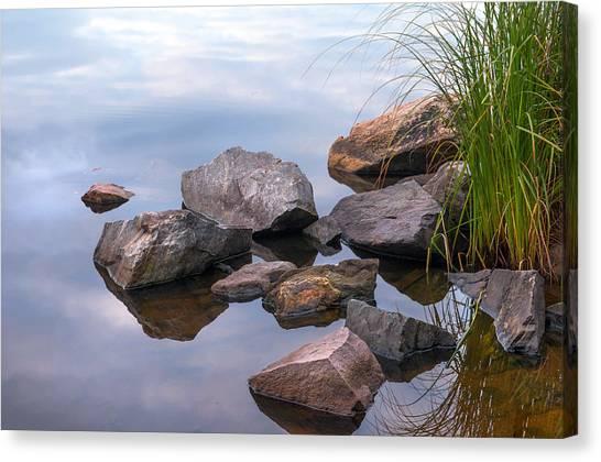 Jenny Lake Canvas Print - Quiet Morning. Ladoga Lake by Jenny Rainbow