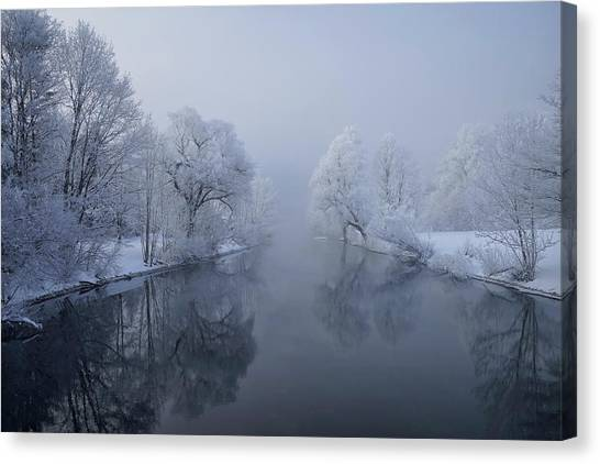 Frost Canvas Print - Quiet Morning by Norbert Maier
