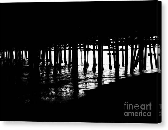 Quiet Pier Pillars Canvas Print