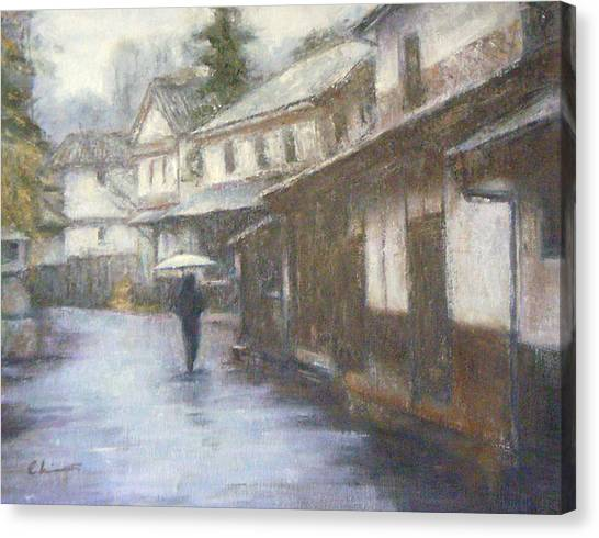 Quiet Rain - Japan Canvas Print by Chisho Maas