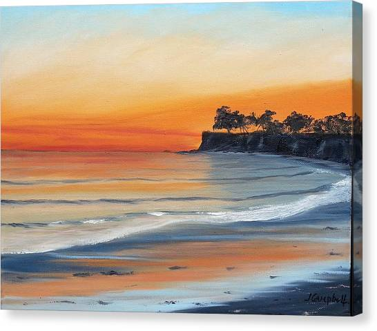 Ucsb Canvas Print - Quiet Sunset by Jeffrey Campbell