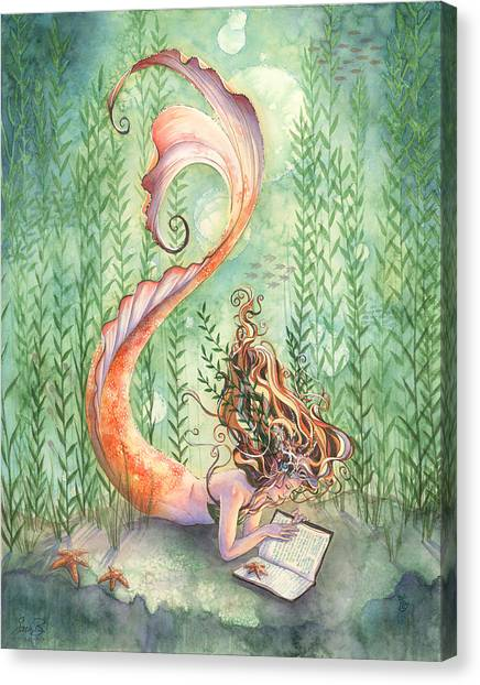 Goldfish Canvas Print - Quiet Time by Sara Burrier