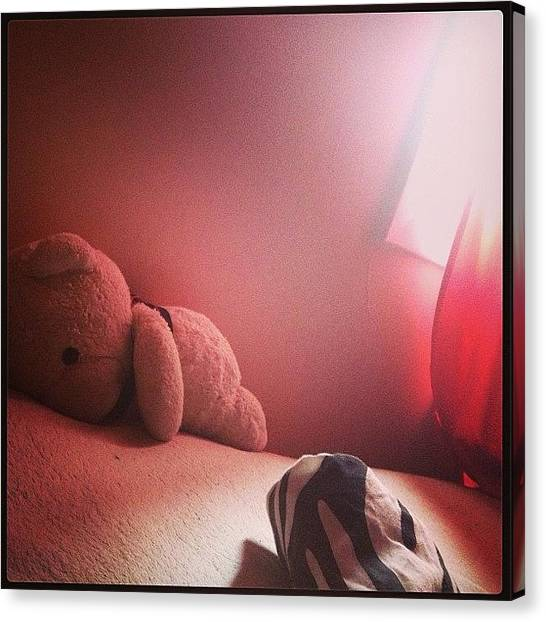 Teddy Bears Canvas Print - #quiet Time This Morning When Stephen by Katrina A