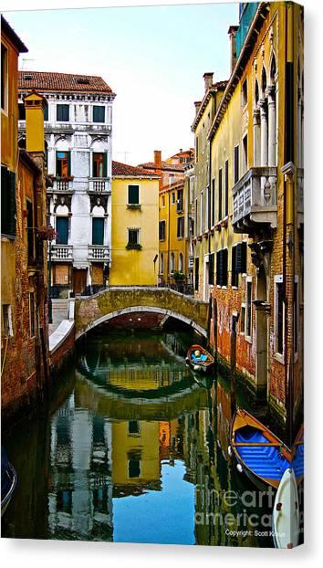 Quiet Venice Morning Canvas Print by Scott Kraus