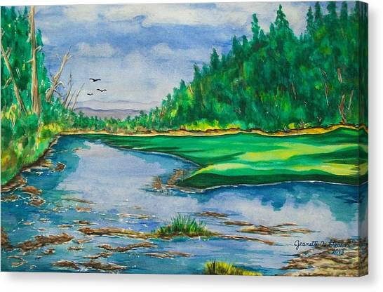 Quiet View Canvas Print by Jeanette Stewart