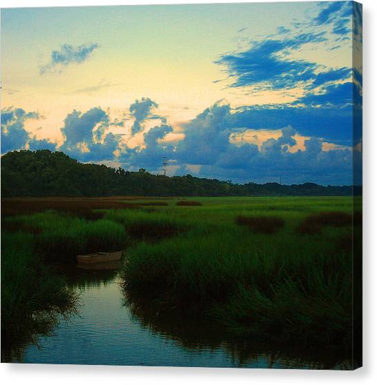 Marshes Canvas Print - Quiet Waterway by Tony Delsignore