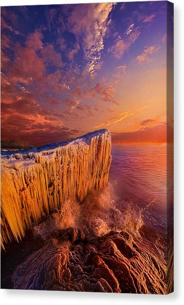 Ice Caves Canvas Print - Quietly Winter Reigns by Phil Koch