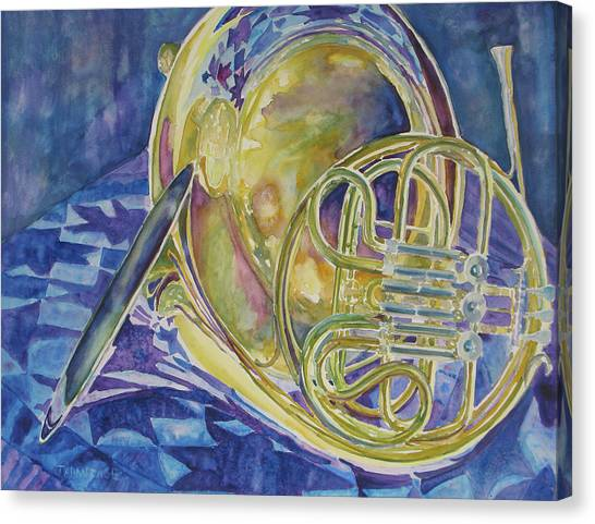 Tuba Canvas Print - Quilted Brass by Jenny Armitage