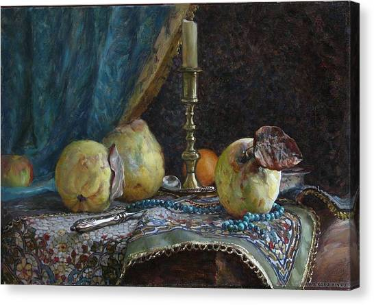 Quince Canvas Print by Korobkin Anatoly