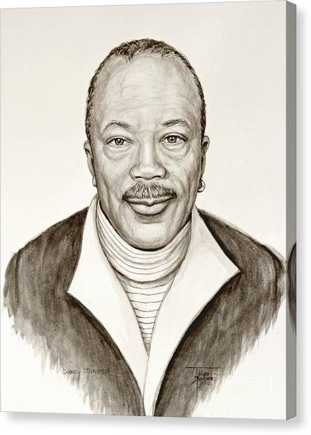 Quincy Jones Canvas Print