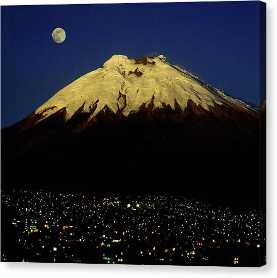 Cotopaxi Canvas Print - Quito And Cotopaxi Volcano by Per-Andre Hoffmann