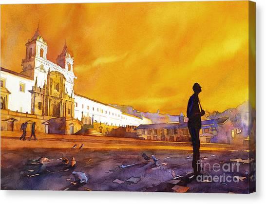 Quito Sunrise Canvas Print
