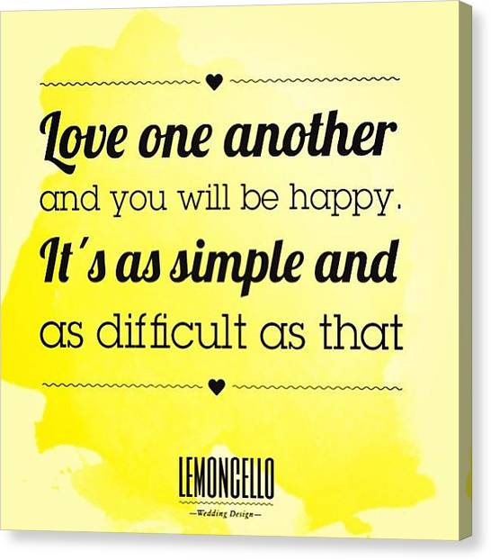 Wedding Canvas Print - #quotes #lemoncellostationery by Lemoncello Wedding Designs