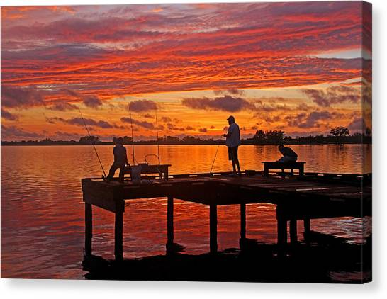 Angler Art Canvas Print - R And R by HH Photography of Florida