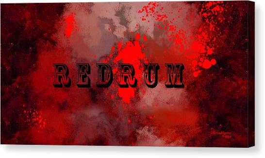 R E D R U M - Featured In Visions Of The Night Group Canvas Print
