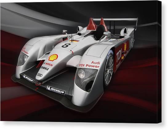 Audi Canvas Print - R10 Le Mans 2 by Peter Chilelli