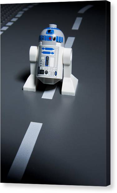 Droid Canvas Print - R2-d2 by Samuel Whitton