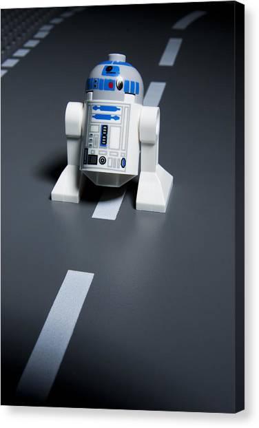 R2-d2 Canvas Print - R2-d2 by Samuel Whitton