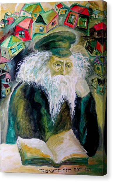 Judaism Canvas Print - Rabbi Yosef Rosen The Rogatchover Gaon by  Leon Zernitsky