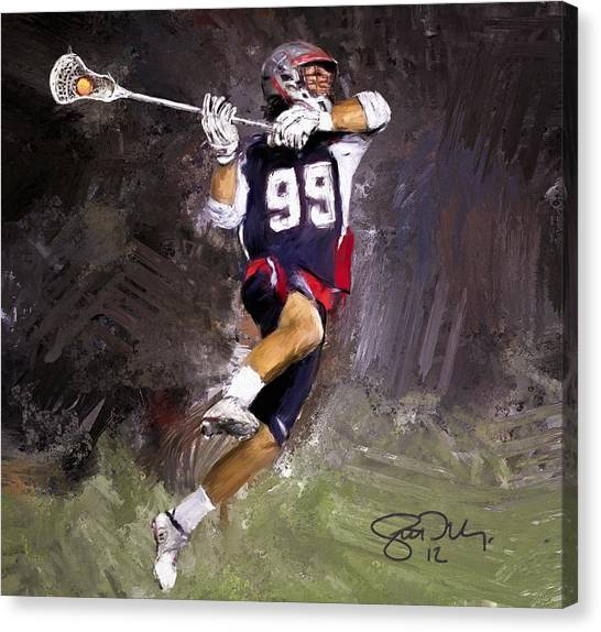 Johns Hopkins Canvas Print - Rabil Lacrosse by Scott Melby