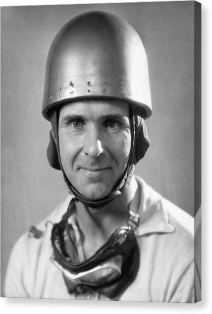 Protective Clothing Canvas Print - Race Car Driver by Underwood Archives