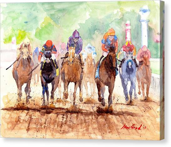 Kentucky Derby Canvas Print - Race Day by Max Good