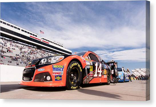 Tony Stewart Canvas Print - Race Day by Rob Narwid