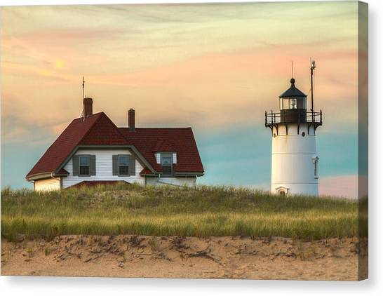 Race Point Light At Sunset Canvas Print
