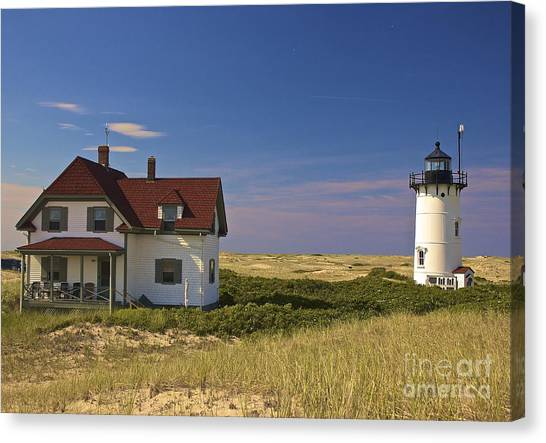 Race Point Lighthouse In Summer Canvas Print