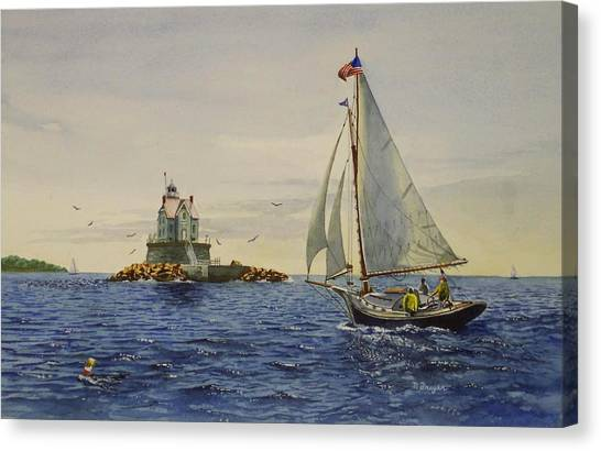 Race Rock Light To The Windward Canvas Print