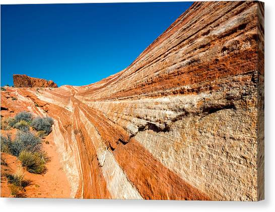 Valley Of Fire Canvas Print - Racetrack by Joseph Smith