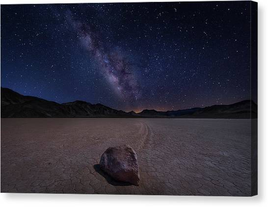 United Way Canvas Print - Racetrack To Milky Way by Michael Zheng