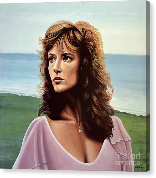 Plaid Canvas Print - Rachel Ward by Paul Meijering