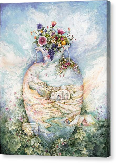 Judaism Canvas Print - Rachel's Jug by Michoel Muchnik