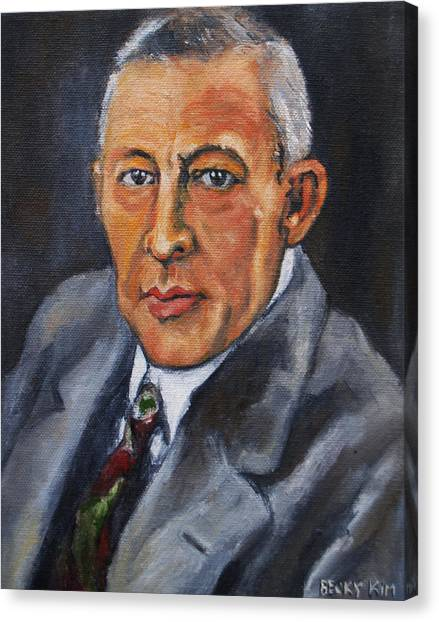 Rachmaninov Canvas Print by Becky Kim