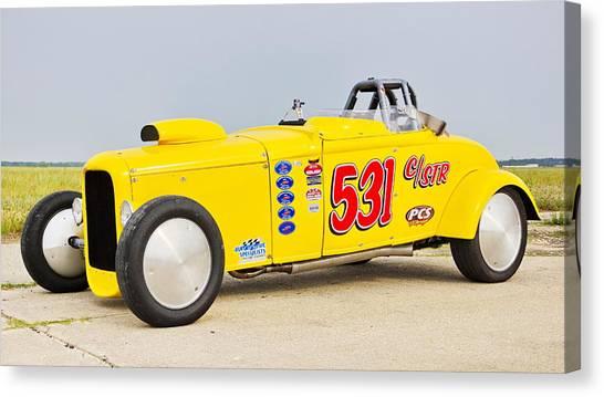 Racing At Maxton Canvas Print
