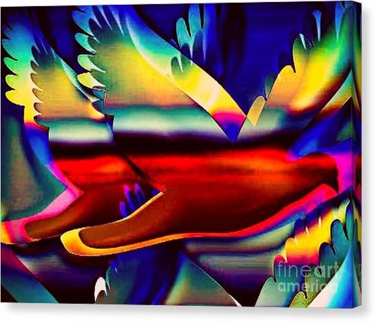 Racing Birds Canvas Print