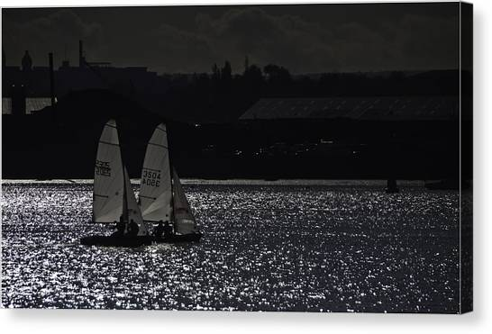 Contre-jour Canvas Print - Racing The Medway by Nigel Jones