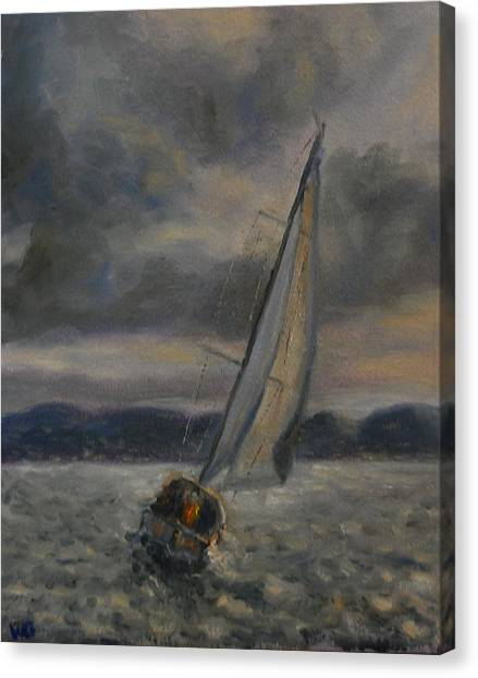 Racing The Storm Canvas Print