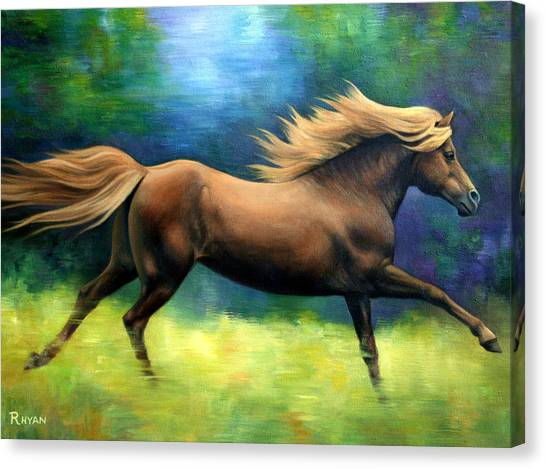 Racing  The Wind Canvas Print