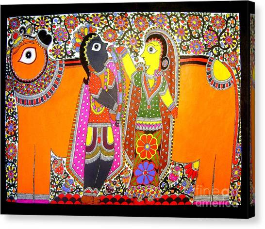 Radha And Krishna Canvas Print