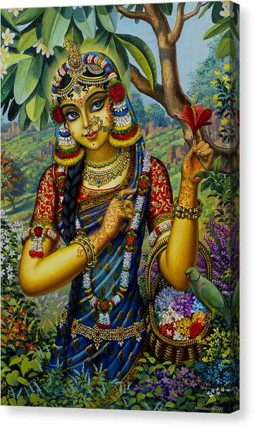 Radha On Govardhan Hill Canvas Print